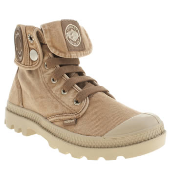 Womens Palladium Brown Baggy Trainers