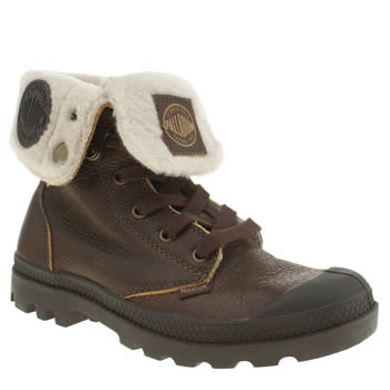 Palladium Brown Baggy Shearling Trainers