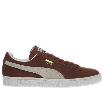Puma Burgundy Suede Classic Womens Trainers