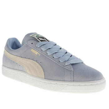 Womens Puma Pale Blue Suede Classic Eco Trainers
