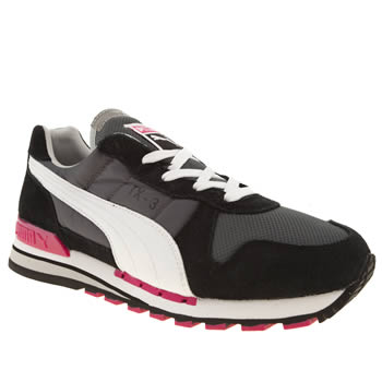 Puma Black and Pink Tx-3 Trainers