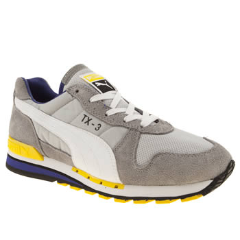womens puma light grey tx-3 trainers