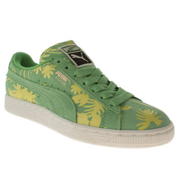 womens puma green suede classic tropicalia trainers