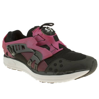 Womens Puma Black & pink Future Disc Lite Trainers