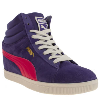womens puma blue classic wedge trainers
