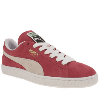 Womens Puma Red Suede Classic Trainers