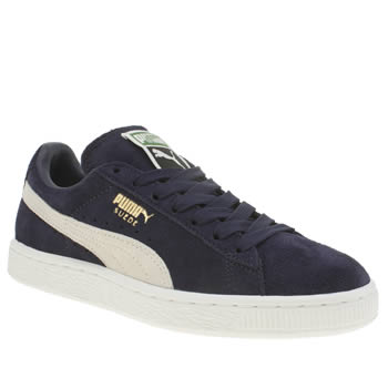 Puma Navy Suede Classic Trainers