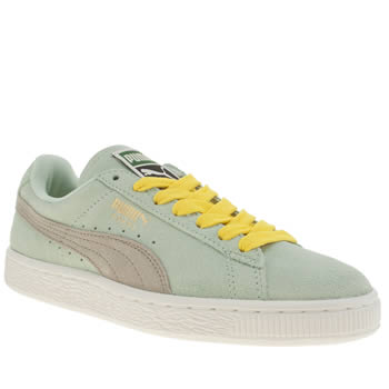 Womens Puma Light Green Suede Classic Trainers