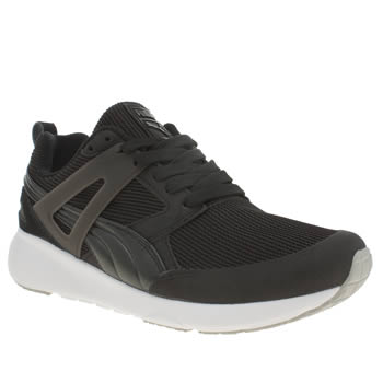 Womens Puma Black & White Aril Evolution Trainers