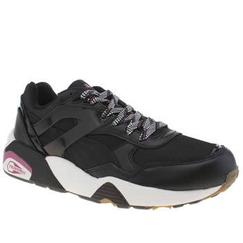 Puma Black & White R698 Basic Sport Tech Trainers