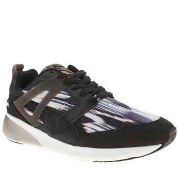 Puma Black & White Aril Fast Graphic Trainers