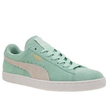 Puma Light Green Suede Classic Trainers