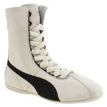 Puma White & Black Rihanna Boxing Eskiva Hi Womens Trainers
