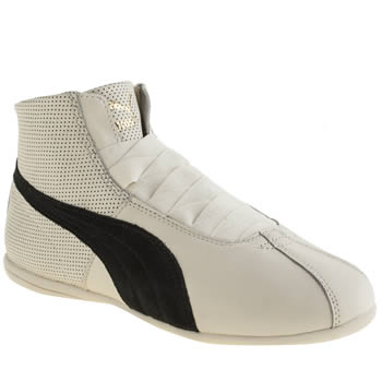Puma White & Black Rihanna Boxing Eskiva Mid Womens Trainers
