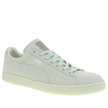 Puma Light Green Suede Mono Iced Trainers