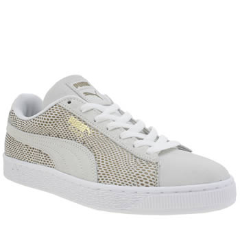 Puma Stone Suede Gold Womens Trainers