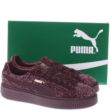Puma Suede Platform Burgundy