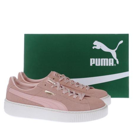 puma platform suede pink