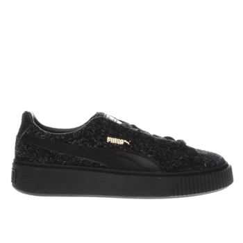 Puma Black Suede Platform Elemental Womens Trainers