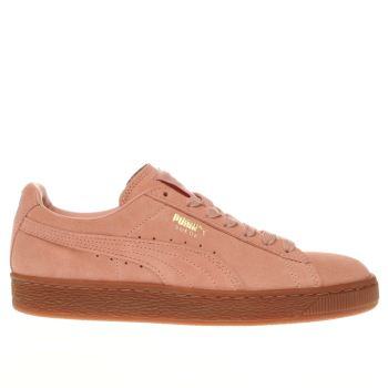 Puma Pale Pink Suede Gum Womens Trainers