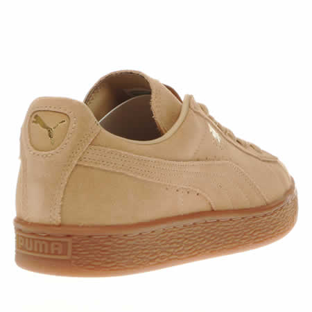 puma beige suede gum trainers. Black Bedroom Furniture Sets. Home Design Ideas