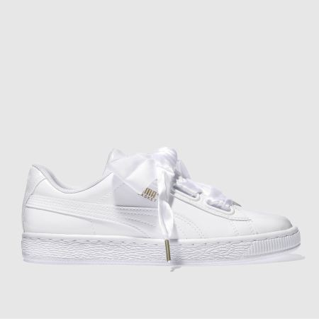 Puma Basket Heart Patent White