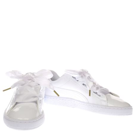 Puma Basket Heart Patent Trainers