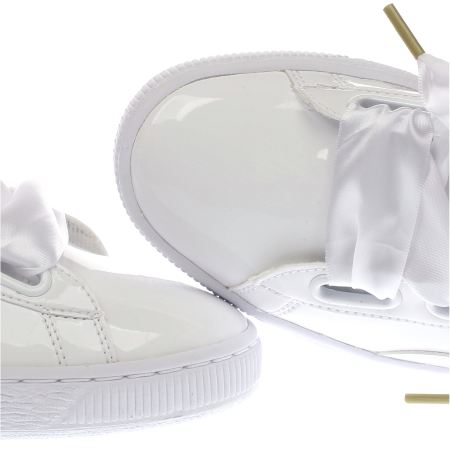 Puma Basket Heart Patent White