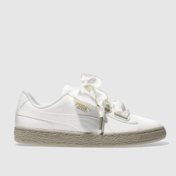 Puma Natural Basket Heart Womens Trainers