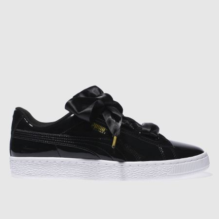 Puma Basket Heart Patent Trainers Black