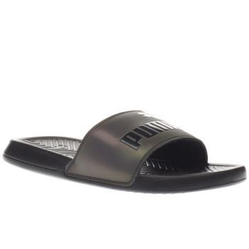 Puma Black Popcat Swan Womens Sandals