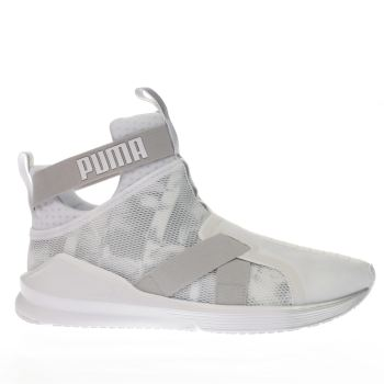 Puma White Fierce Strap Swan Womens Trainers