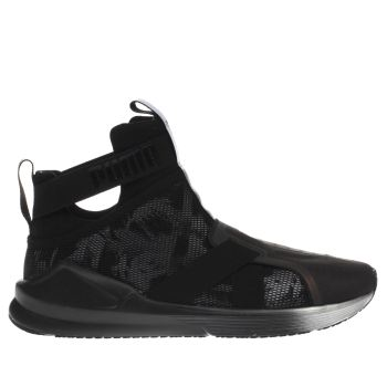PUMA BLACK FIERCE STRAP SWAN TRAINERS