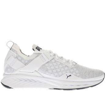 PUMA WHITE IGNITE EVOKNIT LO TRAINERS