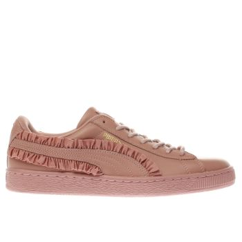 Puma Pink Basket Classic Frill Womens Trainers