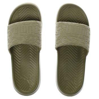 Puma Khaki Popcat Womens Sandals