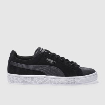 Puma Black Suede Classic Met Safari Womens Trainers
