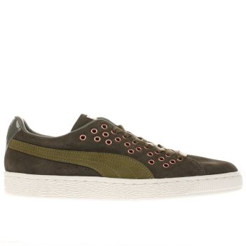 Puma Khaki Suede Xl Lace Vr Womens Trainers