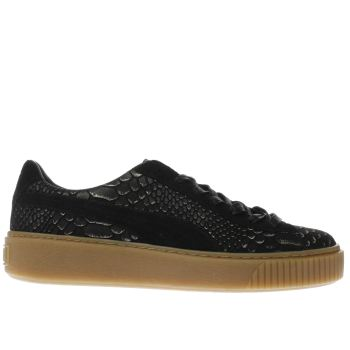 Puma Black Platform Exotic Skin Womens Trainers