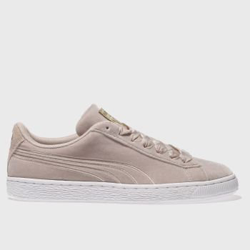 Puma Pink Basket Velour Womens Trainers
