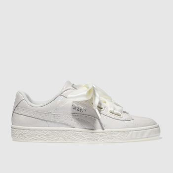 Puma Natural Basket Heart Opulence Womens Trainers