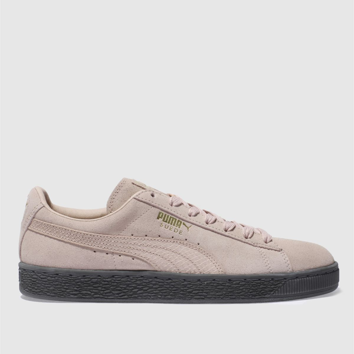puma pale pink suede animal trainers