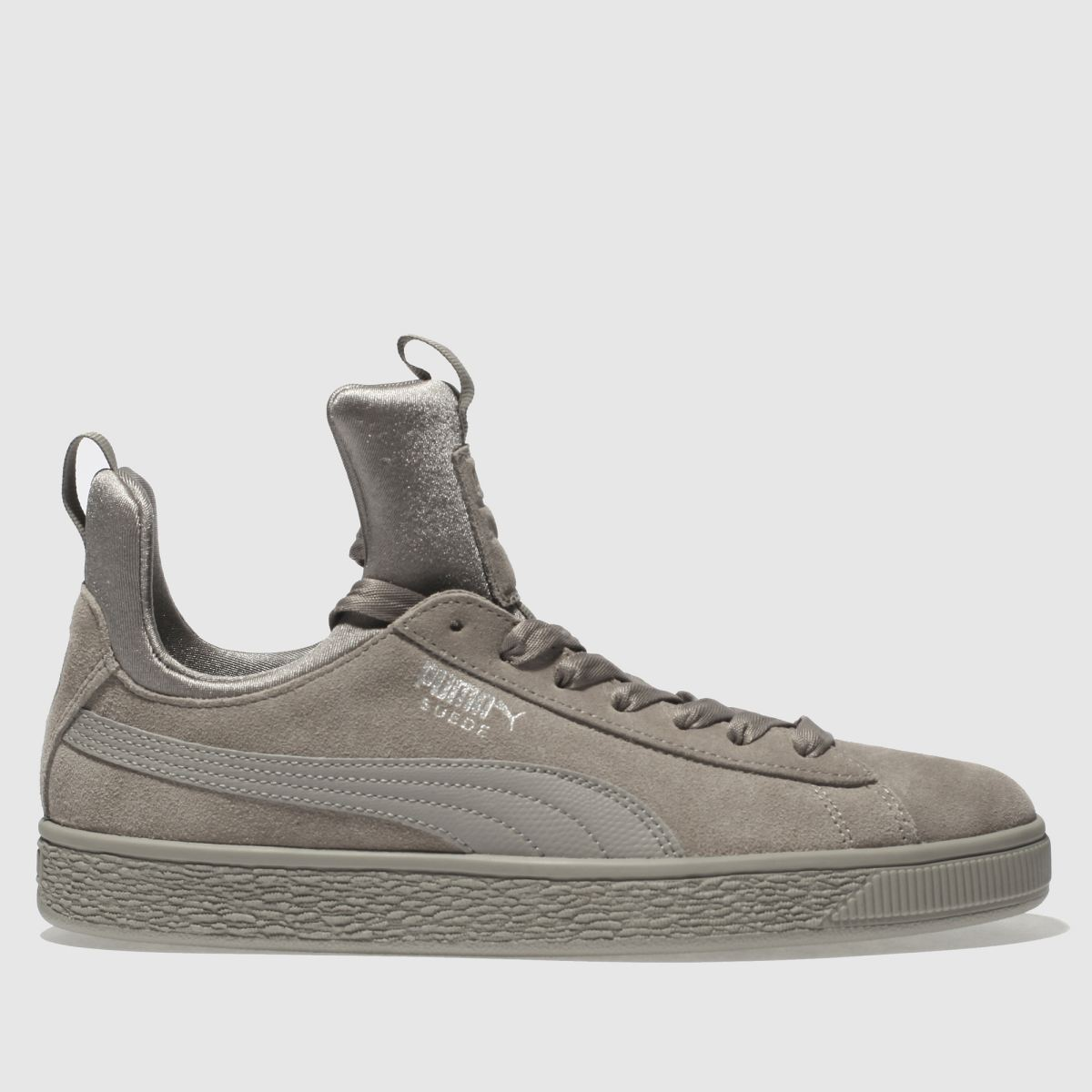 Puma Light Grey Suede Fierce Trainers