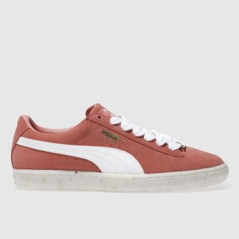 Puma Orange Suede Classic B-Boy Fabulous Womens Trainers