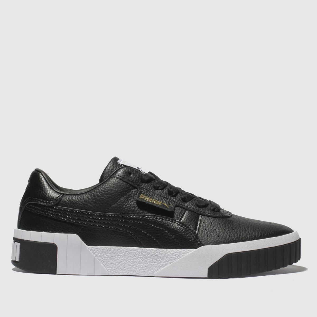 Puma Black & White Cali Leather Trainers