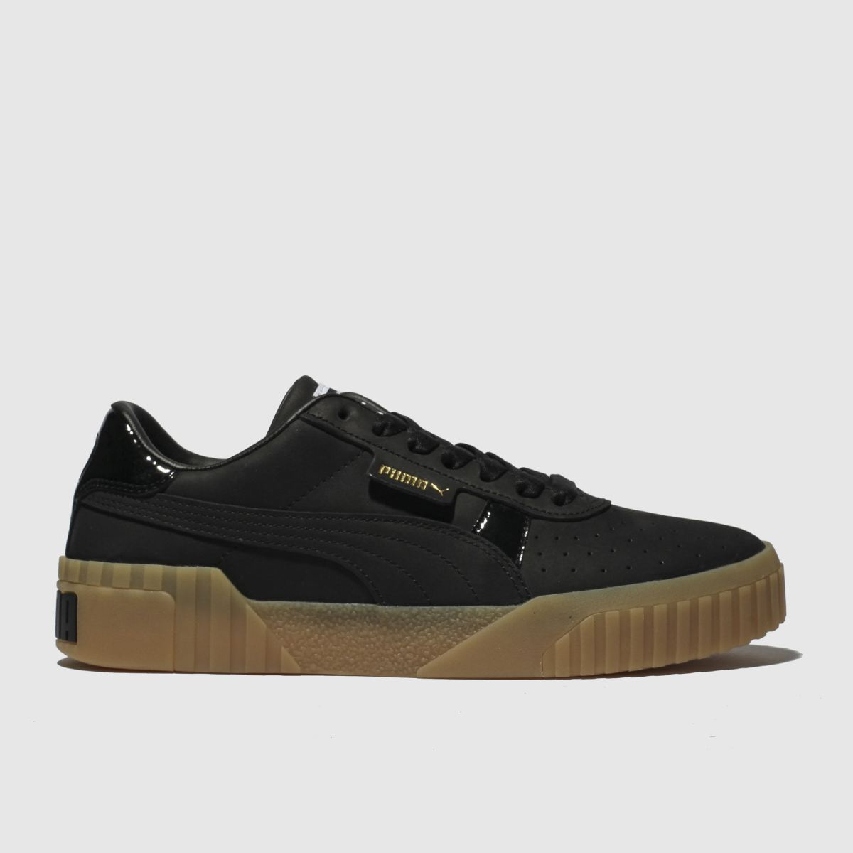 Puma Black & White Cali Nubuck Trainers