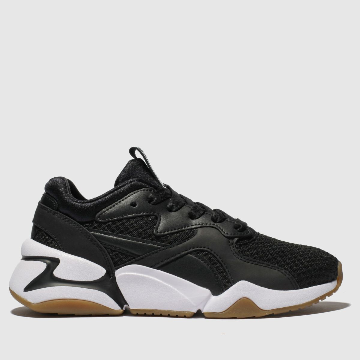Puma Black & White Nova 90s Block Trainers