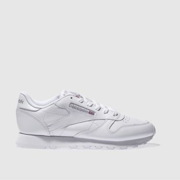 Womens Reebok White Classic Leather Trainers