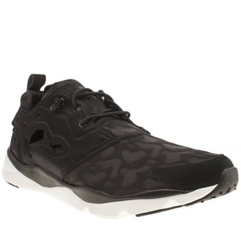 Reebok Black Furylite Graphic Concrete Trainers
