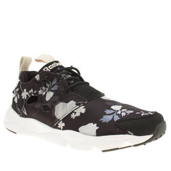 Reebok Black & White Furylite Graphic Florals Trainers
